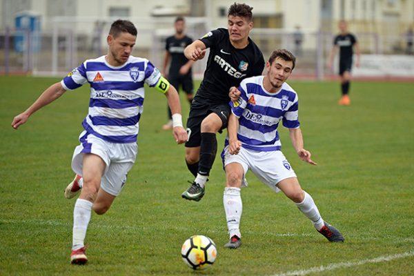 Meciul de fotbal dintre ASU Politehnica Timisoara si  Pandurii Targu Jiu, din etapa a  XVIII -a a Ligii a 2-a, disputat pe stadionul Stadionul Stiinsa din Timisoara, sambata, 24  noiembrie 2018.GABRIEL BREZEANU/MEDIAFAX FOTO